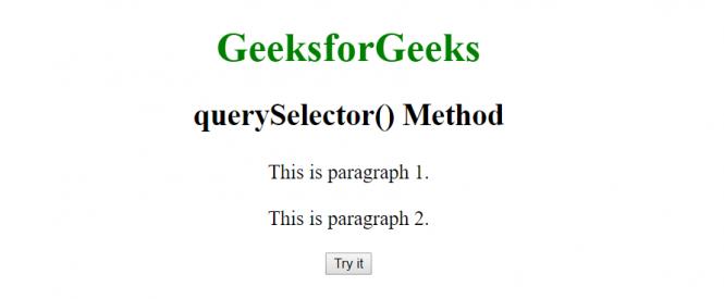 querySelector1