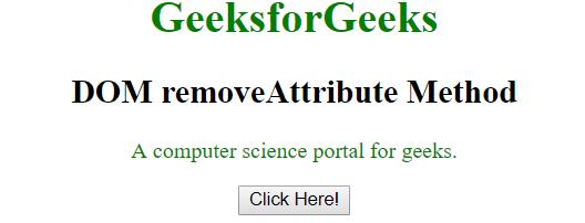 removeAttribute