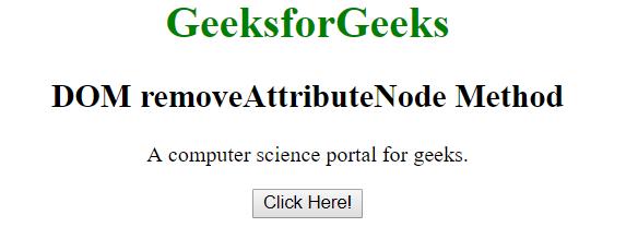removeAttributeNode