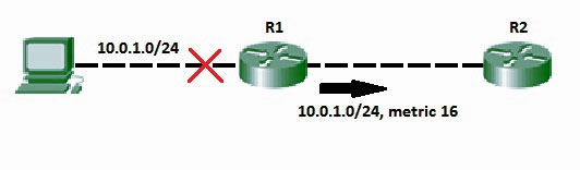 Route Poisoning and Count to infinity problem in Routing