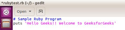 Ruby Programming Language (Introduction) - GeeksforGeeks