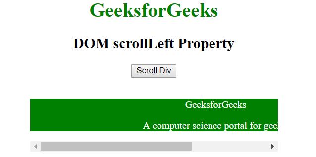scrollLeft