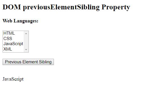 previousElementSibling