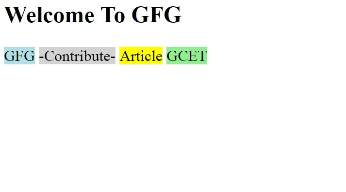 span Tag | HTML - GeeksforGeeks