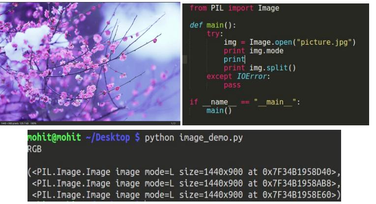 split an image in python