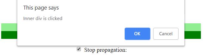 stopPropagation