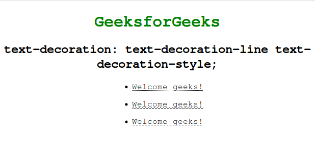 CSS  text-decoration Property - GeeksforGeeks