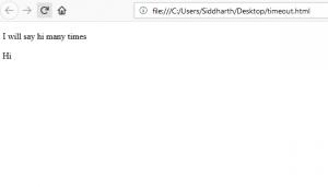 Java Script | setTimeout() & setInterval() Method - GeeksforGeeks