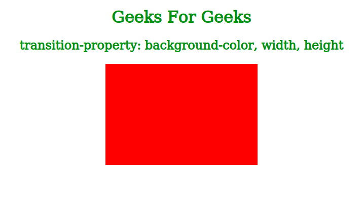 CSS | transition-property Property - GeeksforGeeks