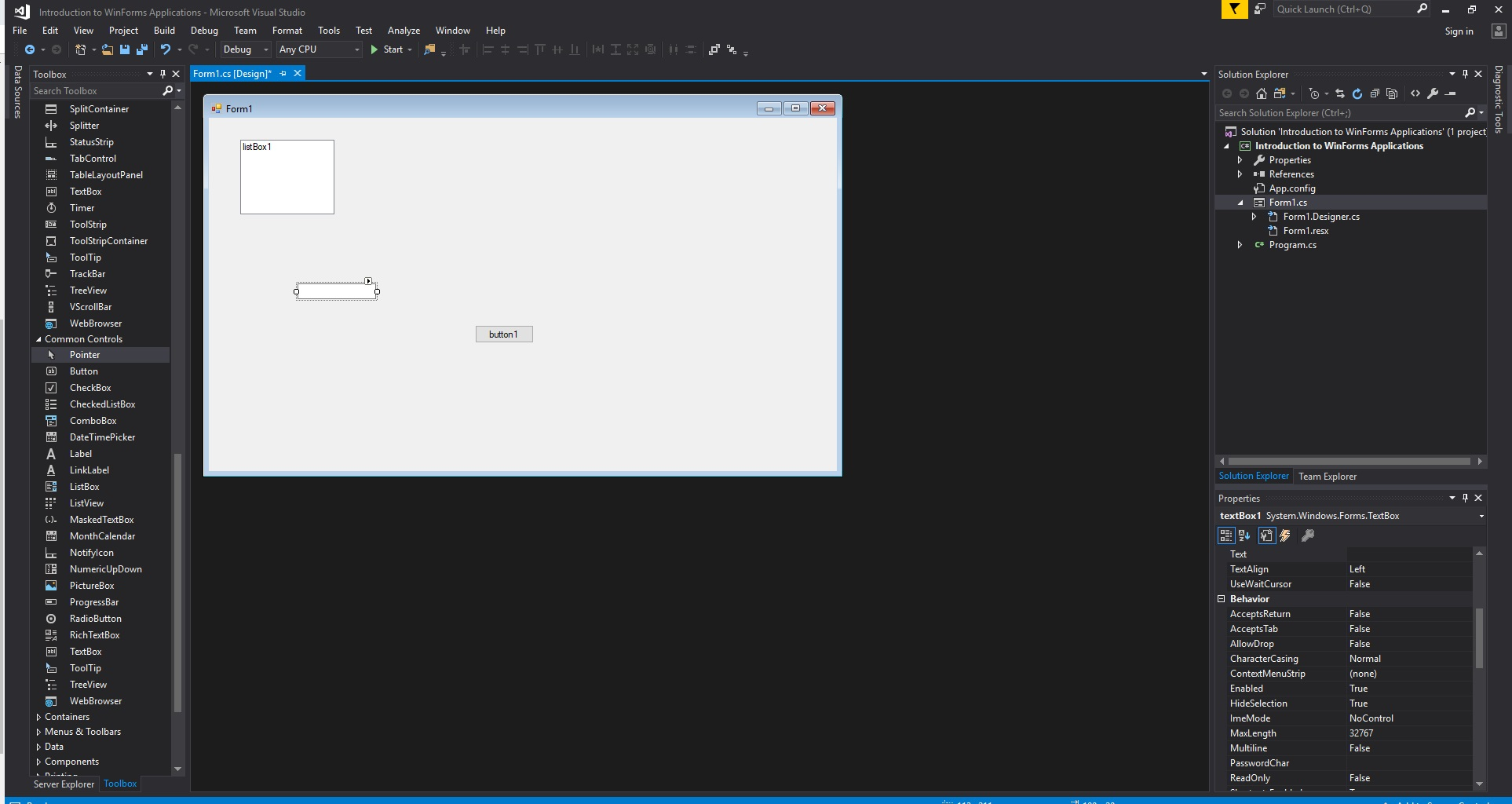 Introduction to C# Windows Forms Applications - GeeksforGeeks on c# form example, word form example, java form example, art form example, photography form example, insurance form example, web form example, wordpress form example, excel form example, business form example, google form example,