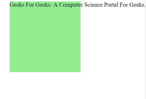 CSS | white-space Property - GeeksforGeeks